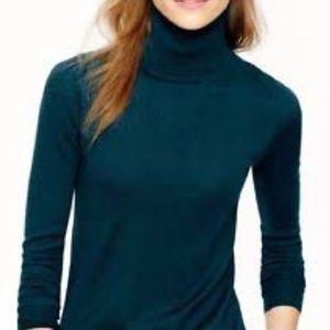 J. Crew Tippi Turtleneck Sweater Merino Wool Green